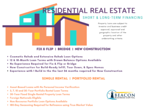 Summary of Commercial Products for Residential Real Estate
